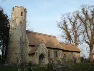 St Mary, Cranwich with its new thatch