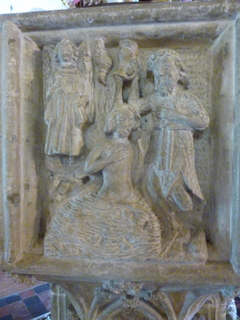 Baptism of Christ. Stalham font.