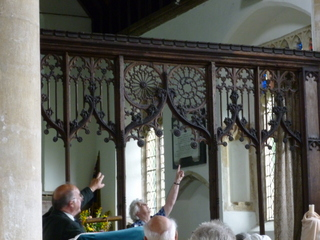A fine rood screen. Holme Hale