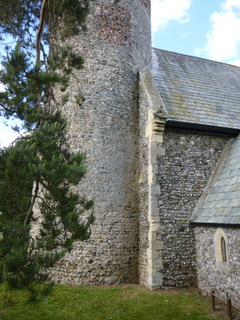 Fishley St Mary's tower detail