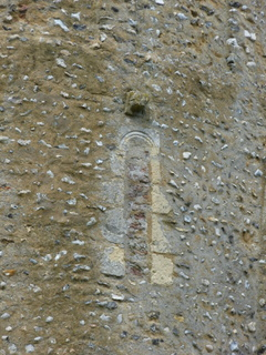 Thorpe next Haddiscoe window in tower