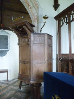 Threxton pulpit