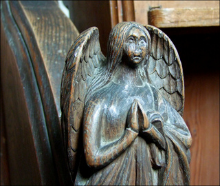 Rushall angel by Simon Knott