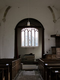 East Walton chancel arch & pulpit