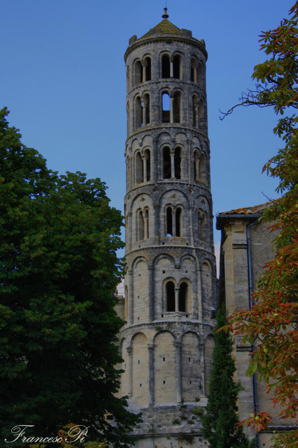 Uzes tower near Nimes