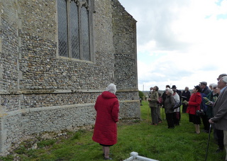 Admiring Billingford tower