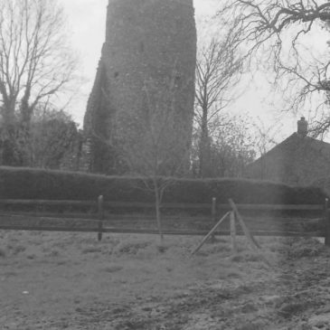 Flint fall from ruins of Norfolk round tower