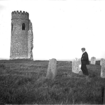 Two vintage photographs show long-lost round tower of 'Poppyland' church