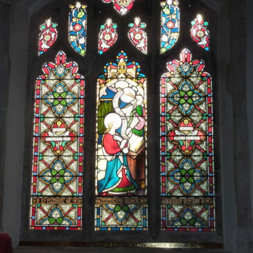 Glorious window glowing with colours again