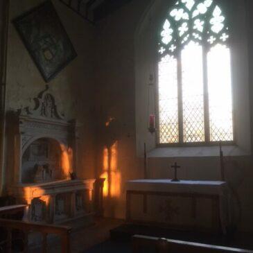 Sunlight streams through restored window